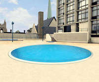 Outdoor Pool at Best Western University Plaza