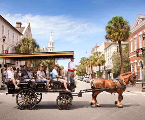 Charleston Carriage Tour of Antebellum Mansions, Churches & Gardens, old fashioned