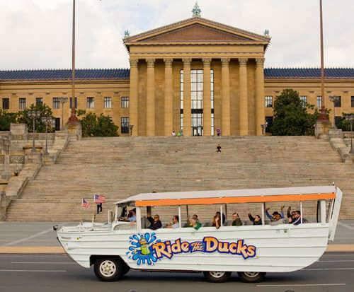 Ride the Ducks Philadelphia, sightseeing