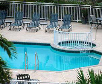 Outdoor Pool at Sunrise Suites Resort