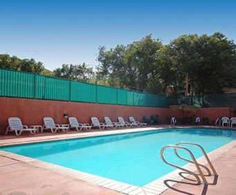 Outdoor Pool at Rodeway Inn Manitou Springs