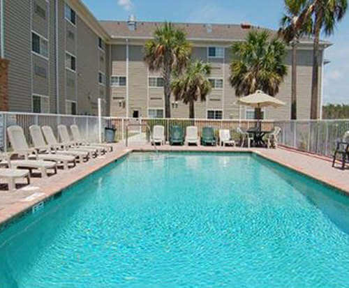 Outdoor Pool at Suburban Extended Stay Hotel Fort Myers