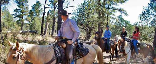 A horseback ride through the Coconino forest is definitely an adventure!