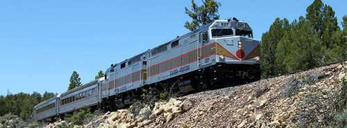 Grand Canyon Railroad Excursion, Scenic Guided Rim Tour & Navajo Reservation Full Day Tour, train