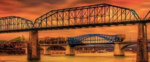 Blue Moon Fall Colors Cruise, bridge sunset