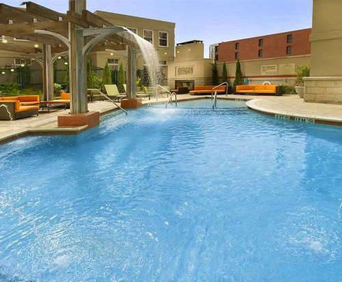 Outdoor Pool at Hampton Inn and Suites Chattanooga/Downtown