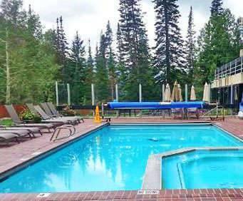 Outdoor Pool at Lodge at Snowbird