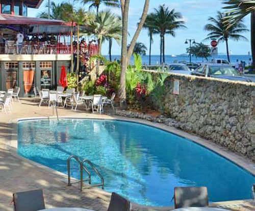 Outdoor Swimming Pool of Sea Club Resort Fort Lauderdale