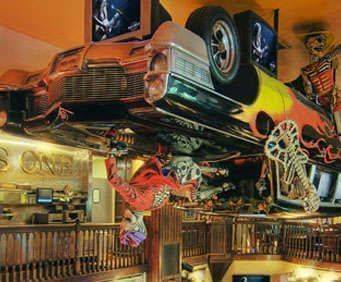 Hard Rock Café Upside Down Car