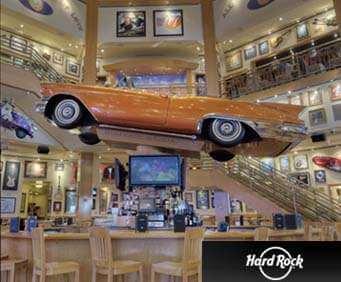 Hard Rock Café Car Over Bar