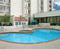 Outdoor Pool at La Quinta Inn & Suites Tacoma Seattle