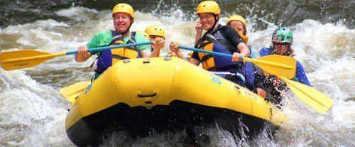 Whitewater Rafting, Zipline & Ropes Challenge Course, whitewater rafting