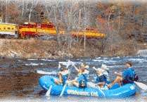 Nantahala River Tour & Scenic Train Ride, water rafting