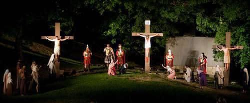 The Great Passion Play, crucifixion