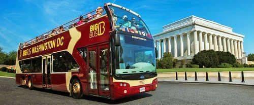 Open Top Double Decker Washington DC Bus Tour, bus