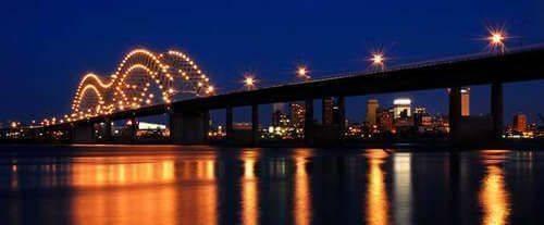 Memphis Ghost Walking Tour - Bridge Lit-Up