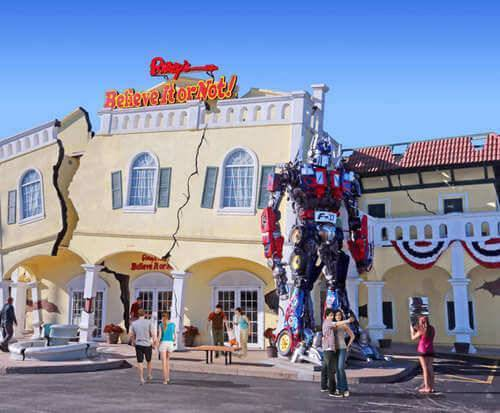 Optimus Prime stands guard at Ripley's Believe It or Not in Branson, MO.
