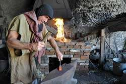 Ozark Medieval Fortress, smithing