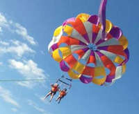 Parasailing on Cape Cod in Den...