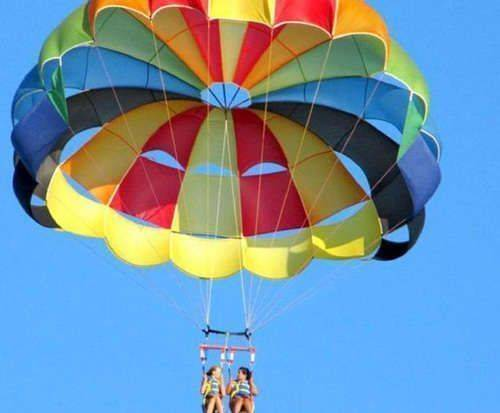 Parasailing on Cape Cod in Dennis, Massachusetts, sightseeing