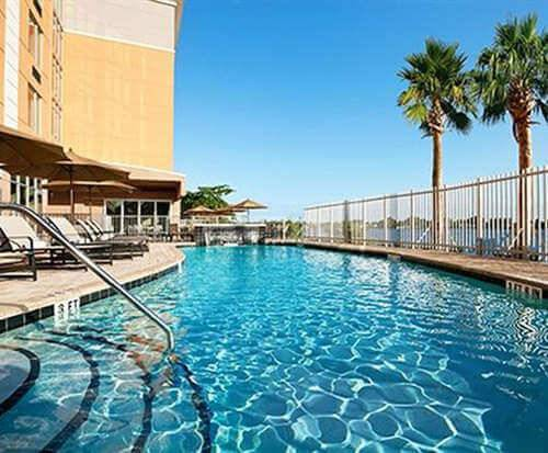 Outdoor Swimming Pool of Cambria Suites Miami Airport - Blue Lagoon Miami