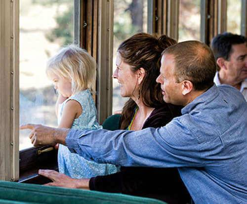 Grand Canyon Railroad Excursion, Scenic Guided Rim Tour & Navajo Reservation Full Day Tour, ride