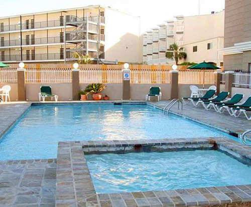 Outdoor Pool at Hampton Inn & Suites Galveston