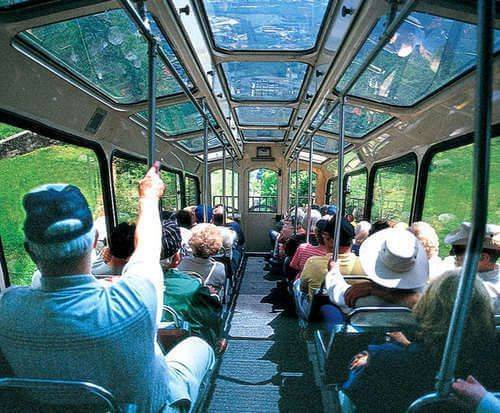 Lookout Mountain Attractions - Inside Incline Railway