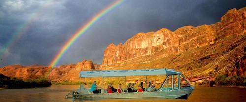 Rainbow over the canyonlands