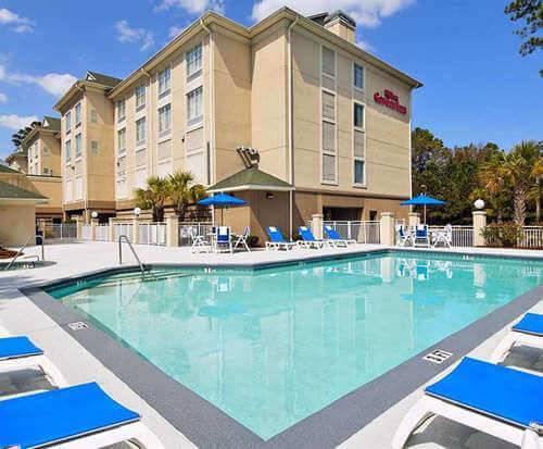 Outdoor Swimming Pool of Hilton Garden Inn Hilton Head SC