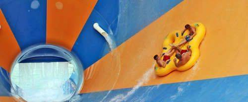 Geauga Lake's Wildwater Kingdom, water slides