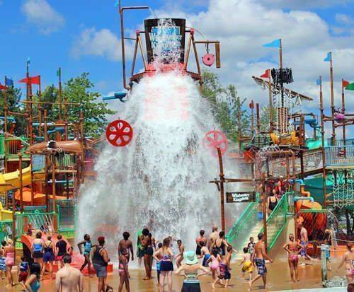 Geauga Lake's Wildwater Kingdom, splash area