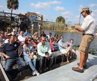 Sawgrass Recreation Park Everglades Airboat Tour, instruction