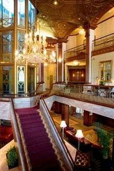 Lobby of Providence Biltmore Hotel