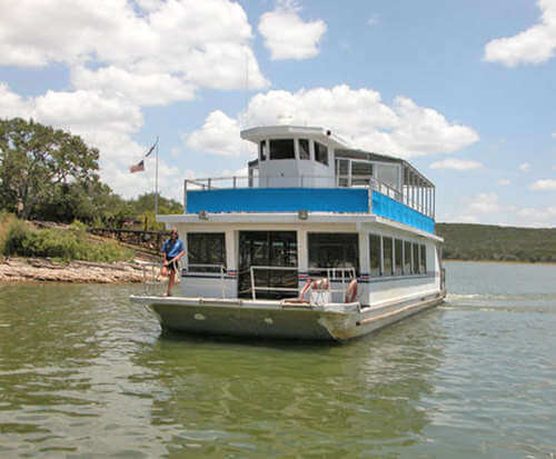 History Cruise of Old Bluffton on Lake Buchanan Near Austin, Texas