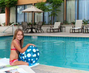 Outdoor Pool at Holiday Inn & Suites Anaheim