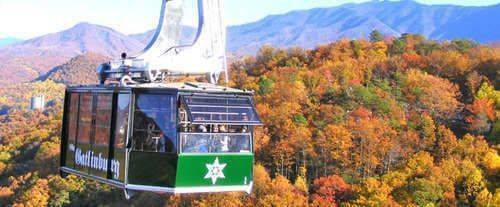 Ober Gatlinburg Aerial Tram, fall tram