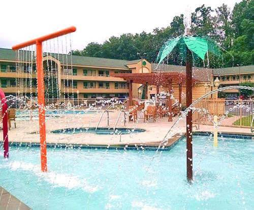 Outdoor Pool at Quality Inn & Suites at Dollywood Lane Pigeon Forge