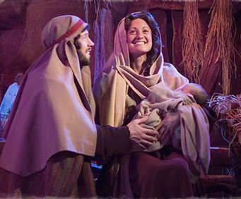 Miracle of Christmas - Mary, Joseph, and Baby Jesus